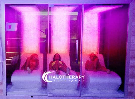 women having salt therapy in a halocave
