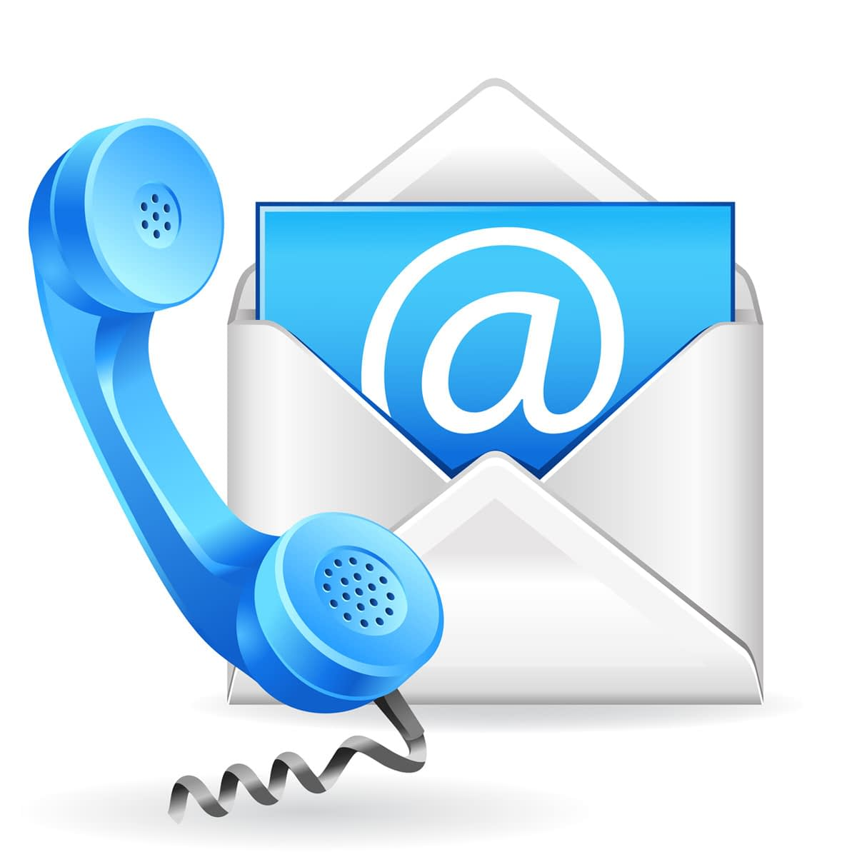 contact us phone and mail icons